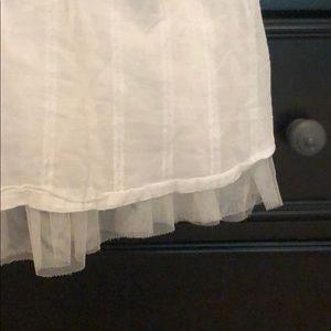 GAP Dresses - White tulle lined dress